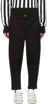 Ami Alexandre Mattiussi Black Carrot Fit Worker Trousers