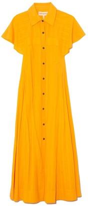 Mara Hoffman Aimilios Dress in Saffron