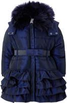 Monsoon Baby Molly Navy Padded Coat