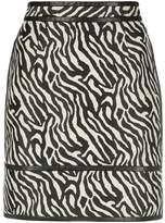 DSQUARED2 zebra print skirt
