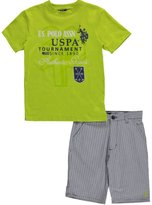 """U.S. Polo Assn. Big Boys' """"Authentic Style"""" 2-Piece Outfit"""