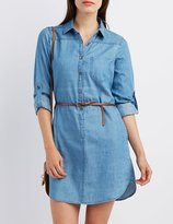 Charlotte Russe Chambray Shirt Dress