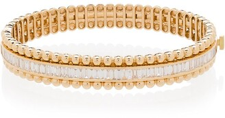 Shay 18K yellow gold diamond ball stretch bracelet