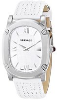 Versace Women's VNB020014 COUTURE Stainless Steel Watch with White Leather Band