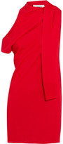 MM6 MAISON MARGIELA Cold-Shoulder Draped Stretch-Knit Mini Dress