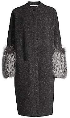 Agnona Women's Fox Fur Trim Cashmere Coat
