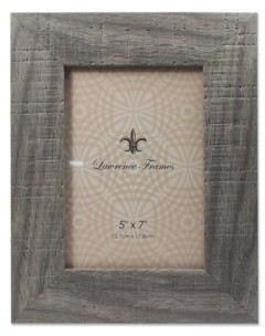"""Lawrence Frames Weathered Gray Halloway Picture Frame - 5"""" x 7"""""""