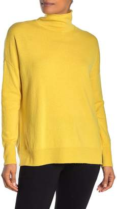 Magaschoni M Funnel Neck Long Sleeve Wool Blend Pullover Sweater