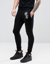 ONLY & SONS Skinny Sweatpants With Badges