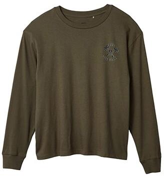 Cotton On Free Rufus Long Sleeve Tee (Big Kids) (Beatle Green/Cool Vibes) Boy's Clothing