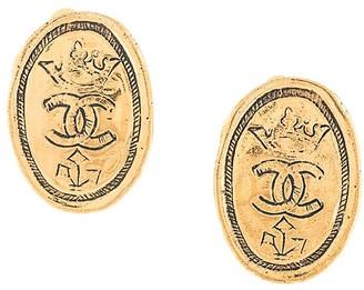 Chanel Pre Owned CC logos earrings