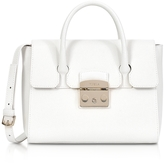 Furla Petalo Grained Leather Metropolis Small Satchel