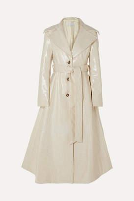REJINA PYO Rhea Coated Wool-blend Trench Coat - Ivory