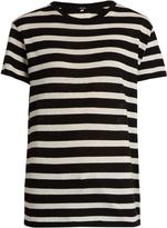 R 13 Striped boyfriend-fit T-shirt