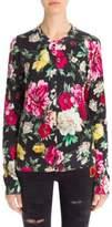 Dolce & Gabbana Silk Floral-Print Cardigan