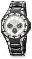 Bulova Crystal-Trimmed Stainless Steel Bracelet Watch