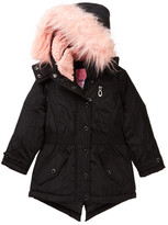 KensieGirl Hooded Anorak with Faux Fur Trim (Little Girls)