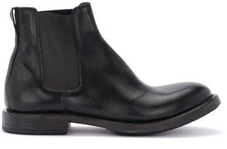 Moma Cusna Boot Made Of Black Leather With Elastic Inserts