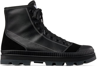 Jimmy Choo Nord leather combat boots