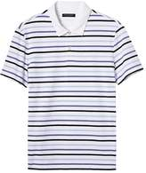 Banana Republic Slim Luxury-Touch Slub Stripe Polo