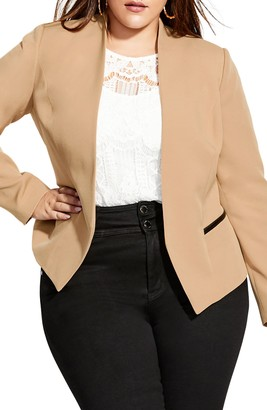 City Chic Open Front Blazer
