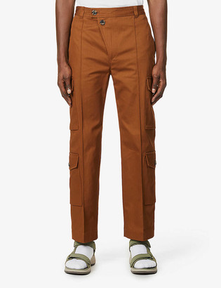 Kenzo Straight-leg cotton cargo trousers