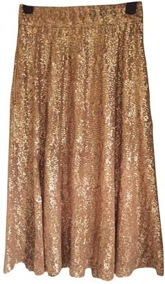 River Island Gold Glitter Skirt for Women