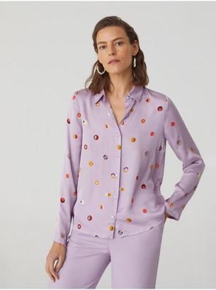 Nice Things Lilac Dot Shirt - 36
