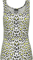 Just Cavalli Leopard-print stretch-jersey tank