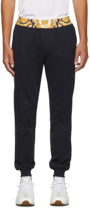 Versace Navy Barocco Border Lounge Pants