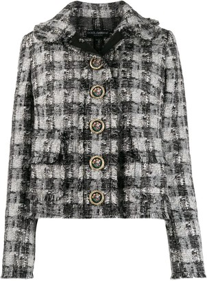Dolce & Gabbana checked tweed jacket