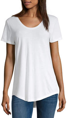 A.N.A Womens Scoop Neck Short Sleeve T-Shirt