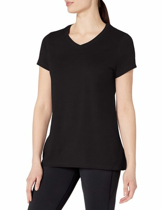 Champion womens Jersey V-Neck Tee black S