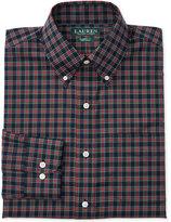 Lauren Ralph Lauren Men's Classic/Regular Fit Non-Iron Tartan Poplin Dress Shirt
