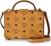 MCM Berlin Cognac Small Crossbody Bag