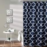 Lush Decor Geo Shower Curtain Navy