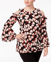 Alfani Plus Size Ruffled Cold-Shoulder Top, Created for Macy's