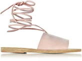 Ancient Greek Sandals Christina Pink Nubuck Sandal