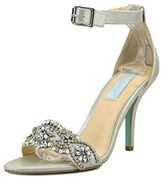 Betsey Johnson Gina Round Toe Canvas Heels.