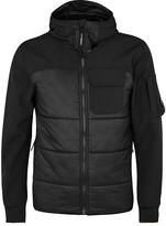 C.p. Company Black Panelled Jersey Shell Jacket