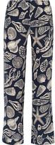 Raphaëlla Riboud Frantz Printed Silk-satin Pajama Pants - Navy