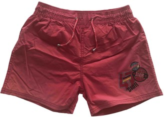 Christian Dior Red Polyester Shorts