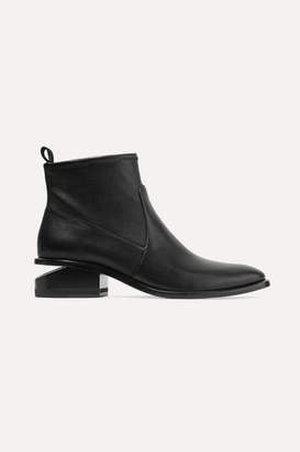 Alexander Wang Kori Cutout Leather Ankle Boots - Black