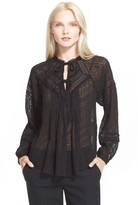Rebecca Taylor Coupe Silk Blend Peasant Blouse