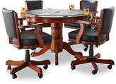 Beringer Billiard Poker Table Set with Four Chairs