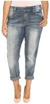 Jag Jeans Plus Size Relaxed Boyfriend in Saginaw Blue Platinum Denim