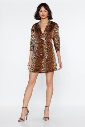 GUESS Nasty GalNasty Gal Womens Take A Wild Animal Blazer Dress - Brown - 8, Brown