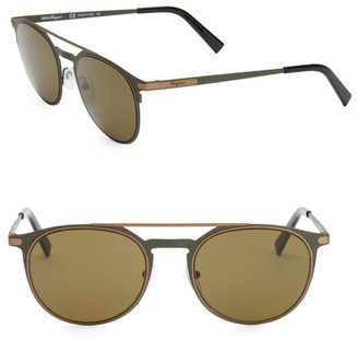Salvatore Ferragamo Classic 52MM Aviator Sunglasses