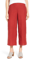 Eileen Fisher Organic Linen Crop Wide Leg Pants (Regular & Petite)
