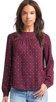 Gap Print long sleeve blouse